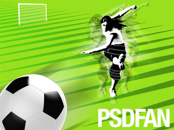 design a cool football wallpaper psdfan