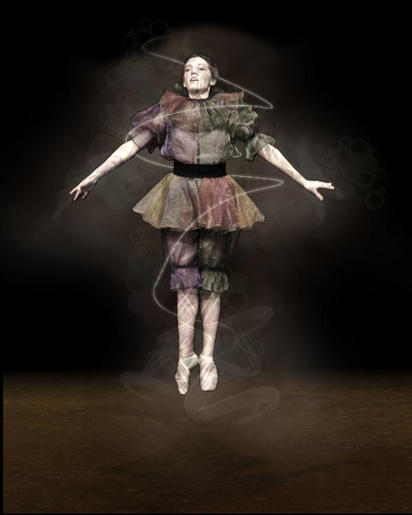 dancer14c Creating Smokey Dancer (Using Lighting/Texturing Effects)