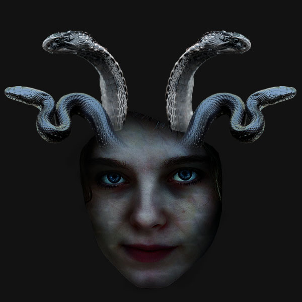 medusa12 Vẽ Quái Vật Medusa trong Photoshop