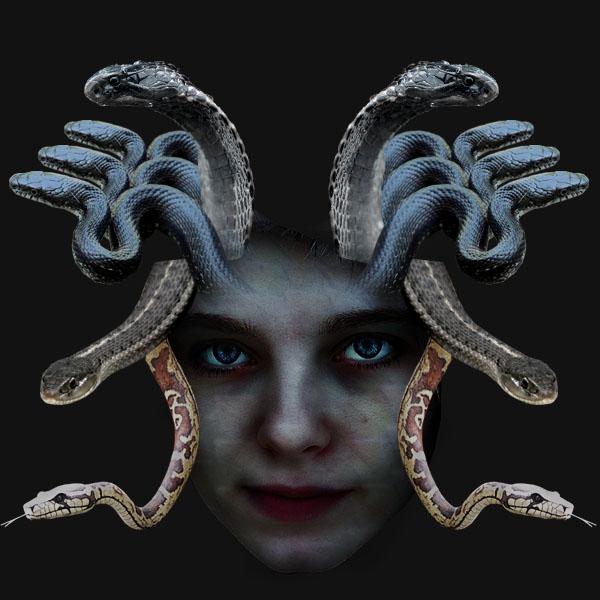 medusa14 Vẽ Quái Vật Medusa trong Photoshop