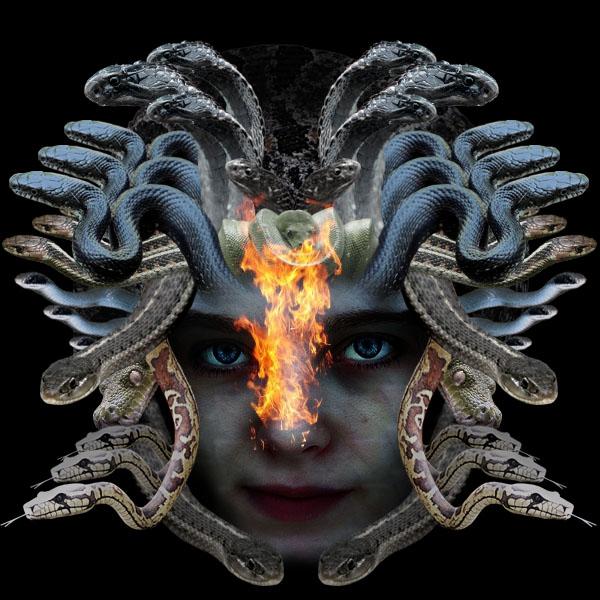 medusa17b Vẽ Quái Vật Medusa trong Photoshop