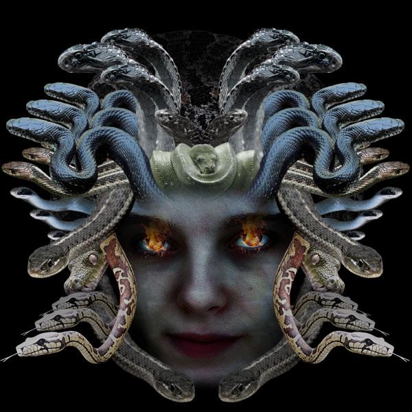 medusa18 Vẽ Quái Vật Medusa trong Photoshop
