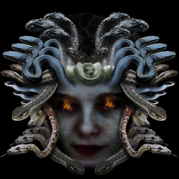 medusa20b Vẽ Quái Vật Medusa trong Photoshop