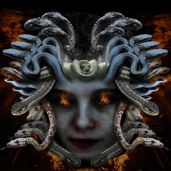 medusa21 Vẽ Quái Vật Medusa trong Photoshop