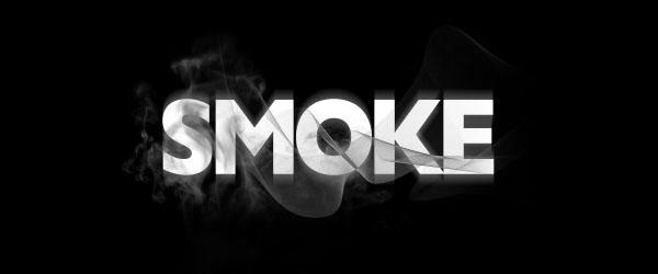 create smokey typography