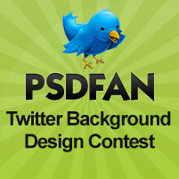 PSDFAN – Twitter Background Design Contest!