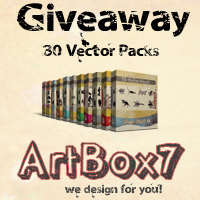 Huge Vector Packs Giveaway Winners