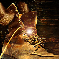 Create a Magical Golden Winged Boot