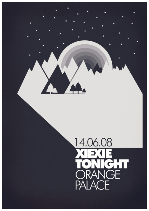 25 seriously artistic band posters psdfan for Space poster design