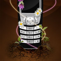 Design a Sleek Nature Themed Phone Advert