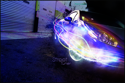 Give a Car Photo Super Slick Lighting Effects