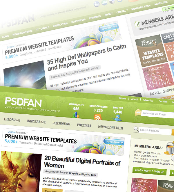 psdfanrelaunchimage PSDFAN Relaunches With New Look!