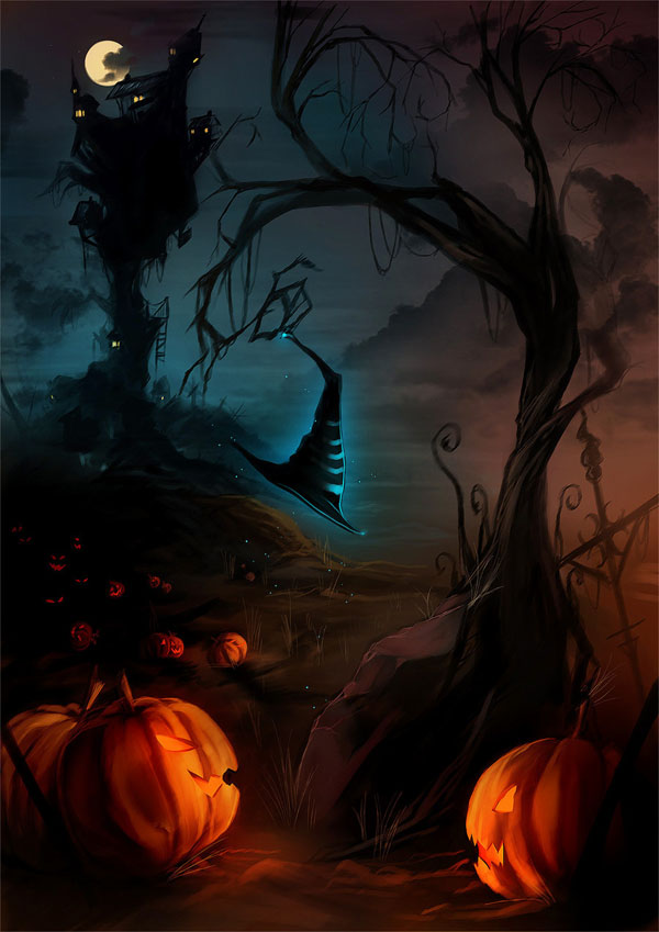 of halloween themed digital art i hope that youll appreciate the skill of these artists and that these works will inspire you in your own designs - Halloween Themed Pictures