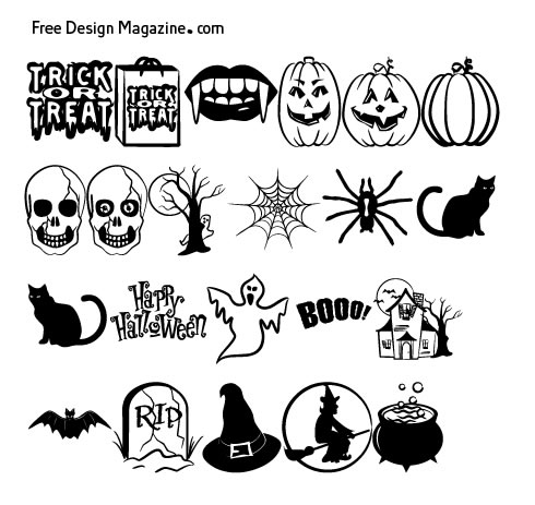 Halloween Vectors helloween icons images Each Image Links To The Original Source So Please Visit The Authors Websites And Let Them Know What You Think Of Their Work