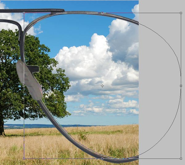 paths over glasses stp 8 Create an Abstract Sea on Land Illusion