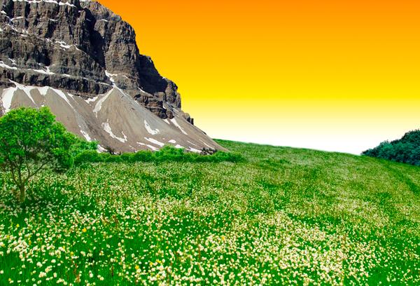 Photo Manipulate A Beautiful Sunrise Landscape