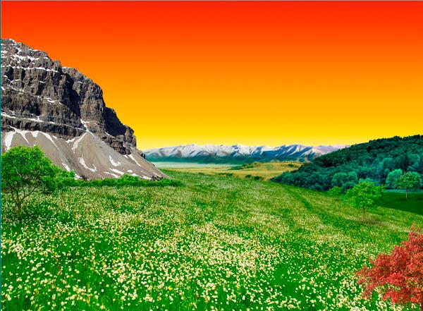 natural15d Photo Manipulate a Beautiful Sunrise Landscape