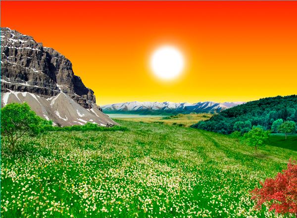 natural17 Photo Manipulate a Beautiful Sunrise Landscape