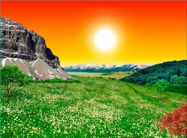 natural18 Photo Manipulate a Beautiful Sunrise Landscape