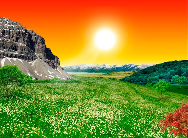 natural19b Photo Manipulate a Beautiful Sunrise Landscape