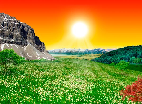 natural20b Photo Manipulate a Beautiful Sunrise Landscape