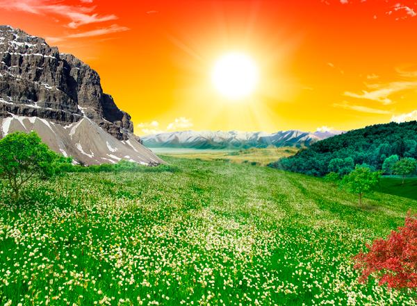 natural22 Photo Manipulate a Beautiful Sunrise Landscape