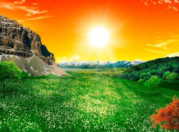 natural26c Photo Manipulate a Beautiful Sunrise Landscape
