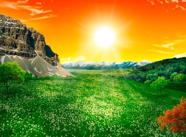natural27c Photo Manipulate a Beautiful Sunrise Landscape