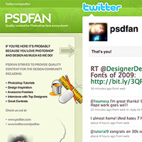 PSDFAN Gets a Twitter Facelift (Plus Some Twitter Inspiration)
