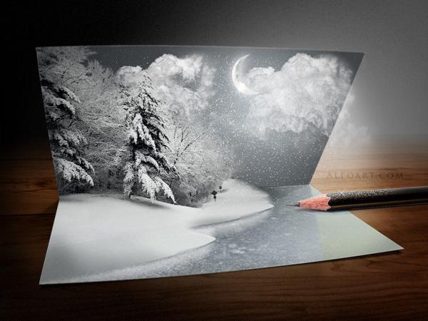 Make a Nice and Creative Christmas Card Using Photoshop