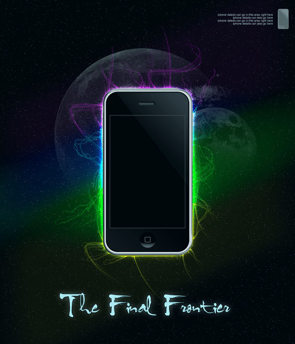 ipodad14 Design a Space Inspired Iphone Advert