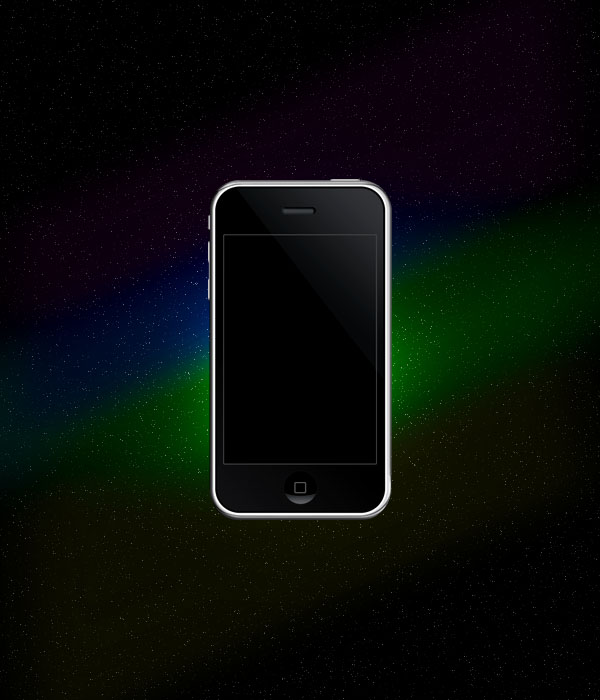 ipodad7 Design a Space Inspired Iphone Advert