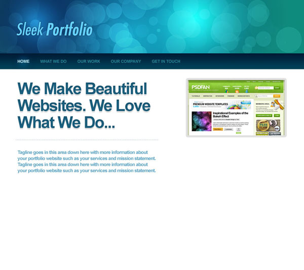 sleek12 Design a Sleek Bokeh Styled Portfolio