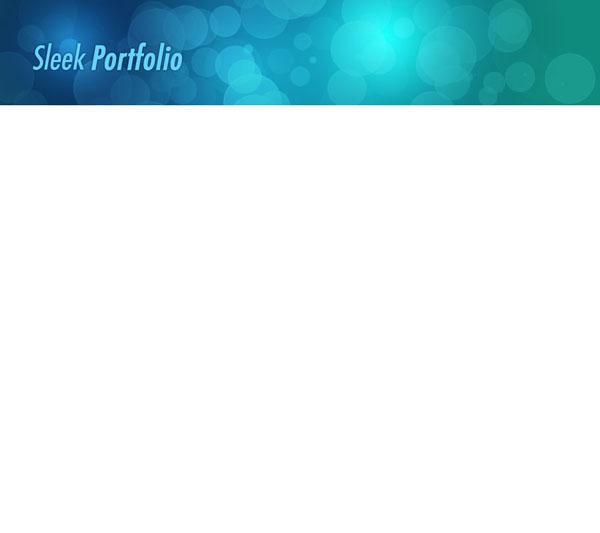 sleek8c Design a Sleek Bokeh Styled Portfolio