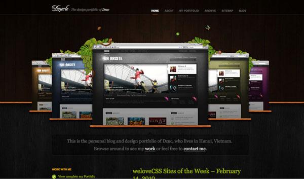 40 Dark and Stylish Website Designs | PSDFan - photo#40