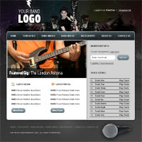 Members Area Tutorial: Design a Rocking Grungy Band Website