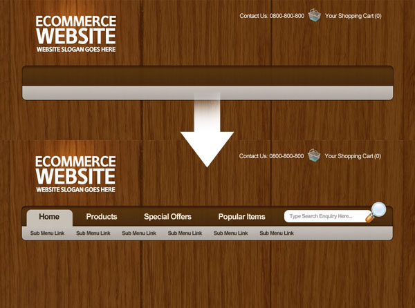 ecommercelayoutthumb300 Members Area Tutorial: Design a Professional Ecommerce Website