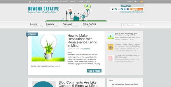 30 fresh and professional blog designs psdfan for Fresh design blog