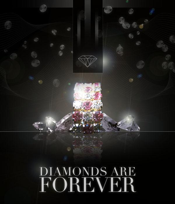 diamondad21 Design a Sleek Diamond Poster Advert
