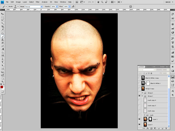 crackedhead1 How To Create an Ultra Realistic Cracked Head Effect