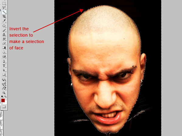 crackedhead2 How To Create an Ultra Realistic Cracked Head Effect