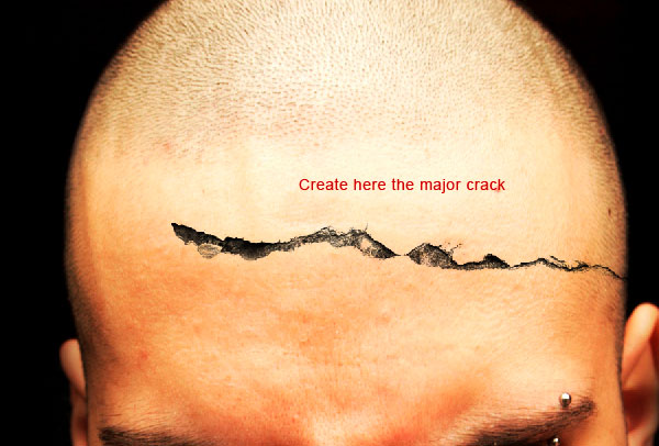 crackedhead3b How To Create an Ultra Realistic Cracked Head Effect