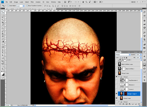 crackedhead7 How To Create an Ultra Realistic Cracked Head Effect