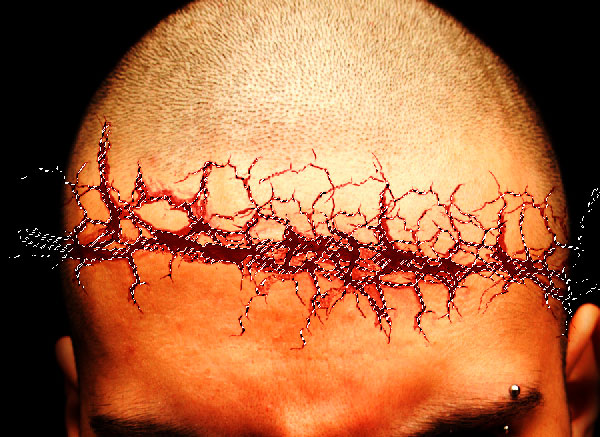 crackedhead8 How To Create an Ultra Realistic Cracked Head Effect