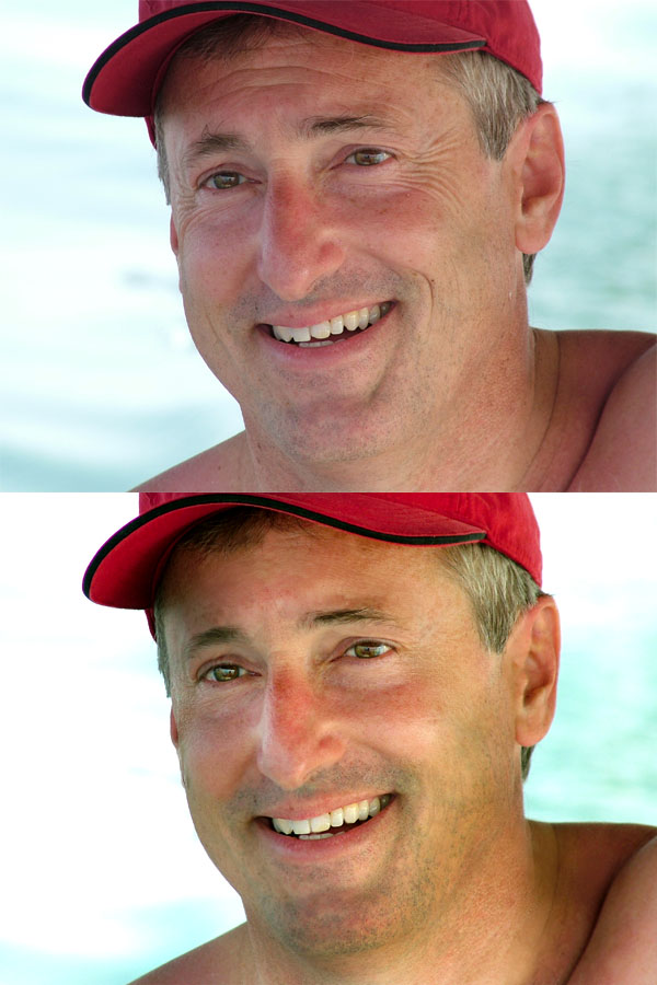 Take 10 Years Off a Male Portrait Via Photo Retouching