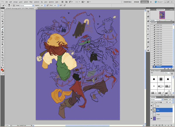 lr3 Digital Painting Lesson: Monkey Island 2: LeChuck's Revenge Special Edition