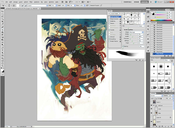 lr4 Digital Painting Lesson: Monkey Island 2: LeChuck's Revenge Special Edition