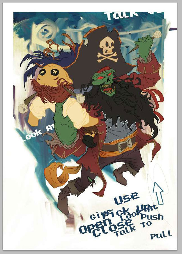 lr5 Digital Painting Lesson: Monkey Island 2: LeChuck's Revenge Special Edition