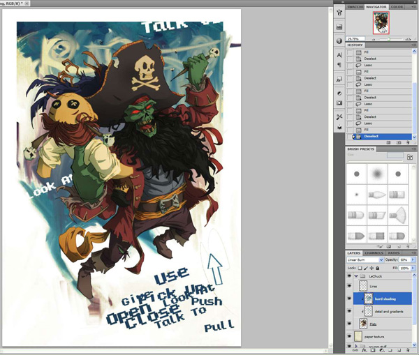 lr6 Digital Painting Lesson: Monkey Island 2: LeChuck's Revenge Special Edition