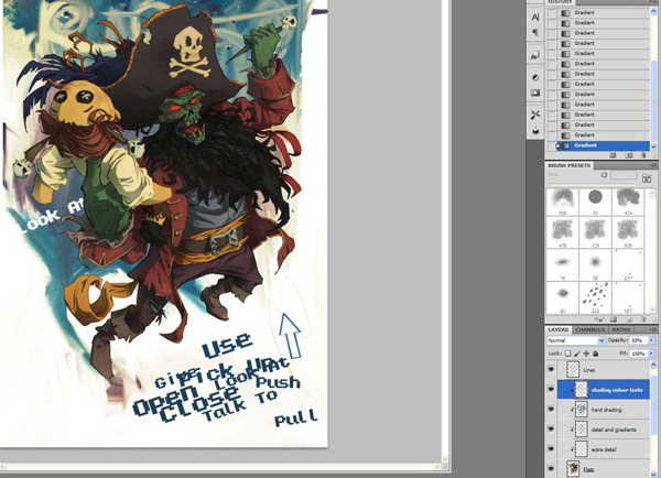 lr8 Digital Painting Lesson: Monkey Island 2: LeChuck's Revenge Special Edition